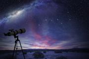未来の空を望遠鏡で見る。